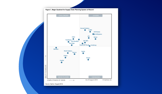 Demand Solutions Named a Leader in the 2018 Gartner Magic Quadrant for Supply Chain Planning SOR